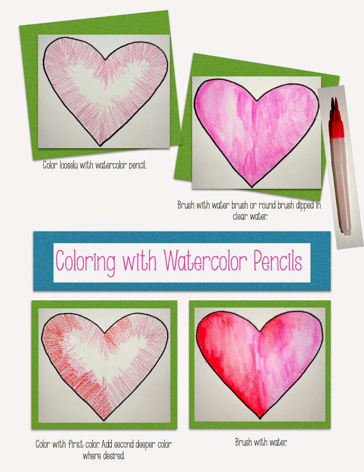 tutorial watercolor pencils art from the word