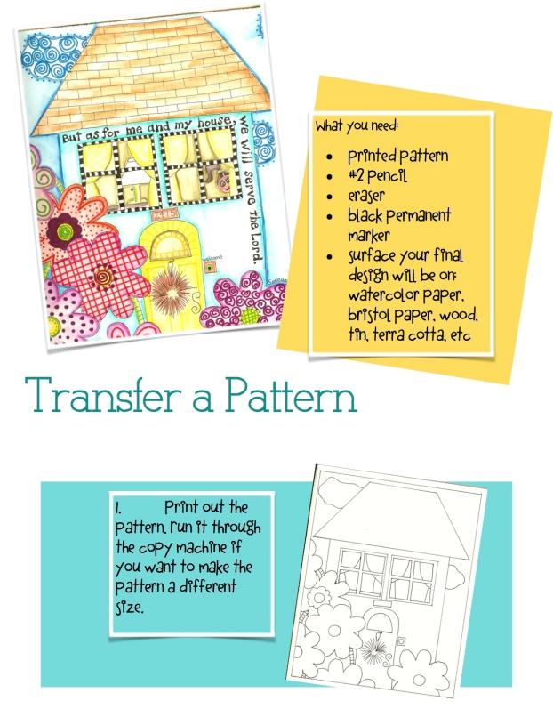 transfer a pattern